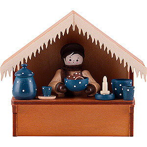 Small Figures & Ornaments Thiel Figurines Christmas Market Stall Blue Pottery with Thiel Figurine - 8 cm / 3.1 inch