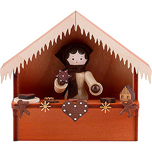 Small Figures & Ornaments Thiel Figurines Christmas Market Stall Gingerbread with Thiel Figurine - 8 cm / 3.1 inch