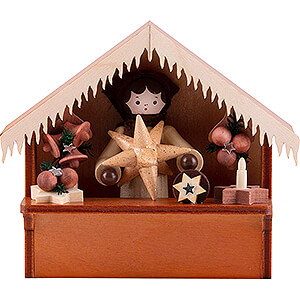 Small Figures & Ornaments Thiel Figurines Christmas Market Stall Stars with Thiel Figurine - 8 cm / 3.1 inch
