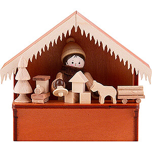 Small Figures & Ornaments Thiel Figurines Christmas Market Stall Toys with Thiel Figurine - 8 cm / 3.1 inch