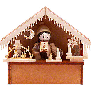 Small Figures & Ornaments Thiel Figurines Christmas Market Stall with Thiel Figurine - 8 cm / 3.1 inch