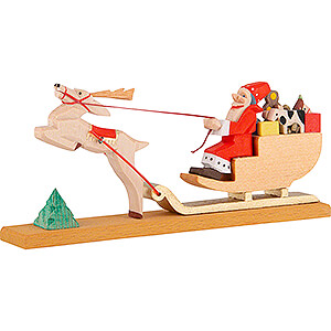 Small Figures & Ornaments Santa Claus Christmas Sled - 6 cm / 2.4 inch