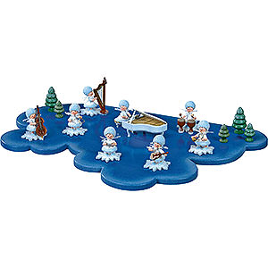 Small Figures & Ornaments Kuhnert Snowflakes Cloud for Snowflake 1 Floor Large - 43x28 cm / 17x11 inch