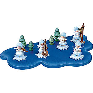 Small Figures & Ornaments Kuhnert Snowflakes Cloud for Snowflake 1 Floor Medium - 30x19 cm / 11.8x7.5 inch