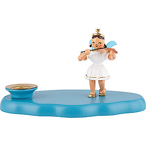 World of Light Candle Holder Angels Cloud with Angel - 13x7x8 cm / 5.1x2.8x3.1 inch