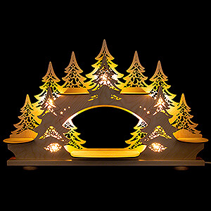 Candle Arches Fret Saw Work Collector Candle Arch - without Figurines - 68x43 cm / 26.8x16.9 inch