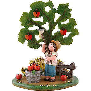 Small Figures & Ornaments Hubrig Four Seasons Country Idyll Apple Harvest - 10x13 cm / 3.9x5.1 inch