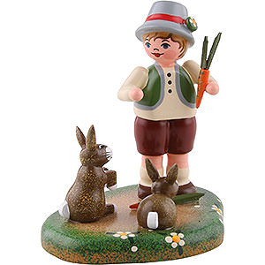 Small Figures & Ornaments Hubrig Four Seasons Country Idyll Paulchen's Long Eared Friend - 6 cm / 2.4 inch