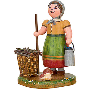 Small Figures & Ornaments Hubrig Four Seasons Country Idyll Peasant Woman - 7 cm / 2.8 inch