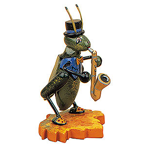 Small Figures & Ornaments Animals Beetles Cricket with Saxophone - 8 cm / 3 inch