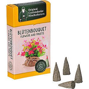 Smokers Incense Cones Crottendorfer Incense Cones - Flowers and Fruits - Flower Bouquet
