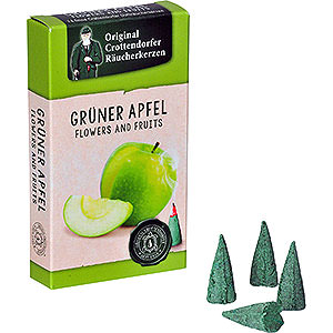 Smokers Incense Cones Crottendorfer Incense Cones - Flowers and Fruits - Green Apple
