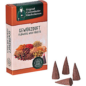 Smokers Incense Cones Crottendorfer Incense Cones - Flowers and Fruits - Spices