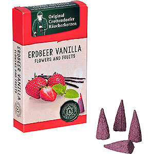 Smokers Incense Cones Crottendorfer Incense Cones - Flowers and Fruits - Strawberry Vanilla