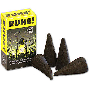 Smokers Incense Cones Crottendorfer Incense Cones - 'RUHE!' Mosquito Repellent - XL Size