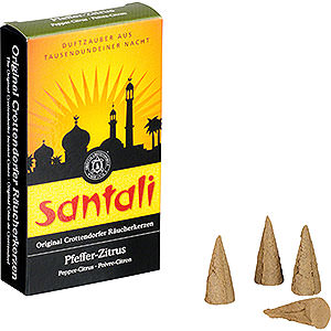 Smokers Incense Cones Crottendorfer Incense Cones - Santali Pepper-Lemon