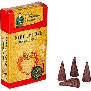 Smokers Incense Cones Crottendorfer Incense Cones - Sensual Magic - Fire of Love