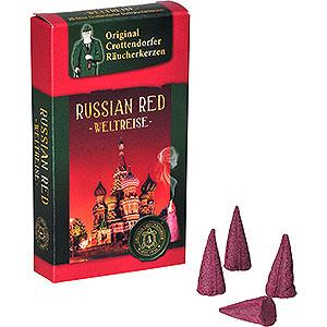 Räuchermänner Räucherkerzen Crottendorfer Räucherkerzen - Weltreise - Russian Red