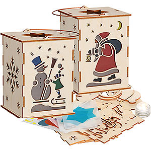 Small Figures & Ornaments everything else DIY Handicraft Set Lantern with Illumination - 12 cm / 4.7 inch