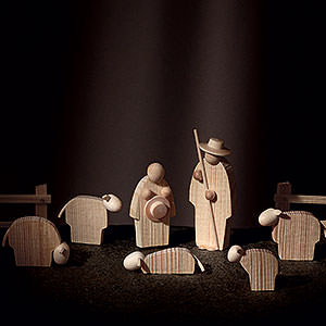 Kleine Figuren & Miniaturen Günter Reichel Krippe Die Hirten - 8 cm