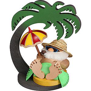 Smokers Santa Claus Display Palm Tree for Santa Inkognito - 20x13x20 cm / 7.9x5.1x7.9 inch