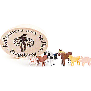 Small Figures & Ornaments Wood Chip Boxes Domestic Animals in Wood Chip Box - 4 cm / 1.6 inch