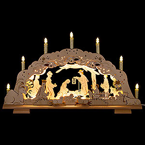 Candle Arches Fret Saw Work Double Candle Arch - Holy Family - 62x36cm/24x14 inch