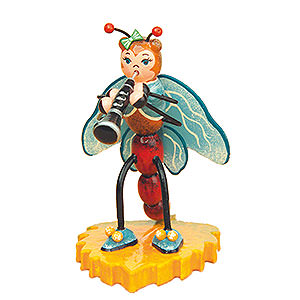 Small Figures & Ornaments Animals Beetles Dragonfly with Clarinet - 8 cm / 3 inch