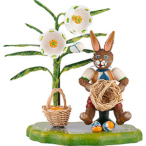 Small Figures & Ornaments Hubrig Rabbits Country Easter Basket - 10 cm / 3.9 inch