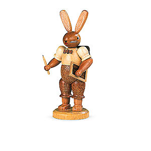 Small Figures & Ornaments Animals Rabbits Easter Bunny School Boy - 11 cm / 4 inch
