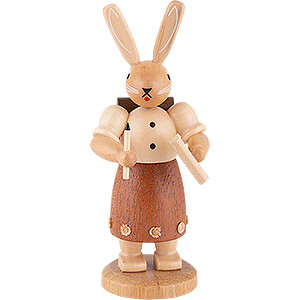 Small Figures & Ornaments Animals Rabbits Easter Bunny School Girl - 11 cm / 4 inch