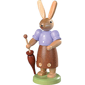 Small Figures & Ornaments Animals Rabbits Easter Bunny (fe(male)) Hand-Painted - 11 cm / 4 inch