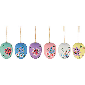 Tree ornaments Easter Ornaments Easter Ornament - Easter Egg Semigloss - 6 pieces - 4 cm / 1.6 inch