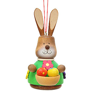 Tree ornaments Misc. Tree Ornaments Easter Ornament - Teeter Bunny with Egg-Basket - 9,8 cm / 3.9 inch