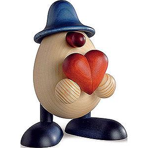 Small Figures & Ornaments Björn Köhler Eggheads small Egghead Hanno with Heart, Blue - 11 cm / 4.3 inch