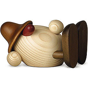 Small Figures & Ornaments Björn Köhler Eggheads small Egghead Oskar Lying Down, Brown - 11 cm / 4.3 inch