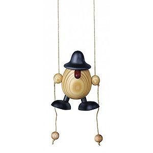 Kleine Figuren & Miniaturen Björn Köhler Eierköpfe klein Eierkopf Arthur kletternd, blau - 11 cm