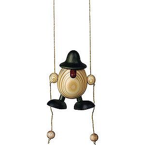 Kleine Figuren & Miniaturen Björn Köhler Eierköpfe klein Eierkopf Arthur kletternd, grün - 11 cm