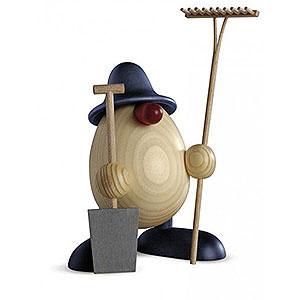 Kleine Figuren & Miniaturen Björn Köhler Eierköpfe klein Eierkopf Benno, Gärtner, blau - 11 cm