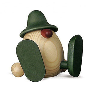 Kleine Figuren & Miniaturen Björn Köhler Eierköpfe klein Eierkopf Erwin sitzend, grün - 11 cm