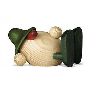 Kleine Figuren & Miniaturen Björn Köhler Eierköpfe klein Eierkopf Oskar liegend, grün - 11 cm