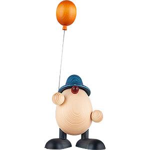 Kleine Figuren & Miniaturen Björn Köhler Eierköpfe groß Eierkopf Vater Otto mit Luftballon, blau - 15 cm