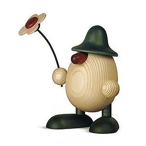 Kleine Figuren & Miniaturen Björn Köhler Eierköpfe groß Eierkopf Vater Rudi mit Blume stehend, grün - 15 cm
