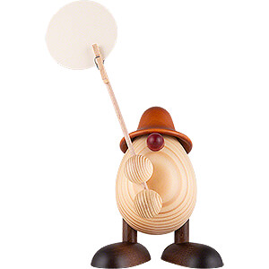 Kleine Figuren & Miniaturen Björn Köhler Eierköpfe klein Eierkopf Willi, Zettelhalter, braun - 11 cm