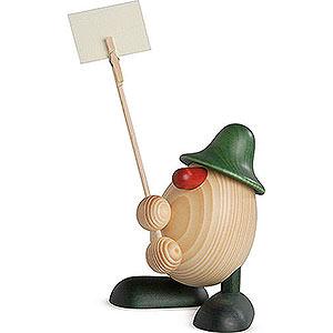 Kleine Figuren & Miniaturen Björn Köhler Eierköpfe klein Eierkopf Willi, Zettelhalter, grün - 11 cm