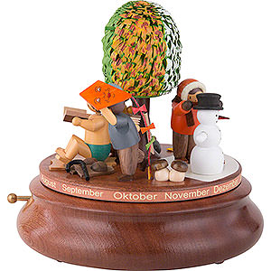 Music Boxes Seasons Electronic Music Box - Around the Year - Rolf Zuckowski Edition - 26 cm / 10 inch