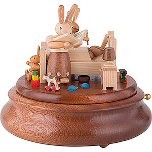 Music Boxes All Music Boxes Electronic Music Box - Bunny Bed with Good Night Stories - 16 cm / 6 inch