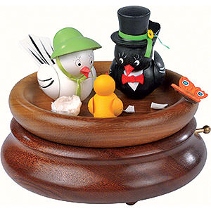 Music Boxes All Music Boxes Electronic Music Box - 'Hi Mum!, Hi Pa!' Bird Wedding - Rolf Zuckowski Edition - 19 cm / 7.5 inch