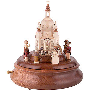 Music Boxes All Music Boxes Electronic Music Box - Historical Scene in Front of Church of Our Lady - 21 cm / 8 inch