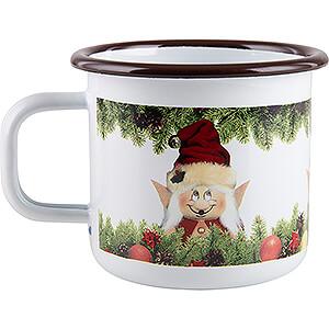 Small Figures & Ornaments Mugs & Napkins Enamel Mug Christmas Elf